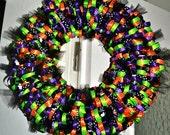 Trick or Treat Halloween Wreath