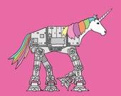 unicorn imperial walker, 8x8 print