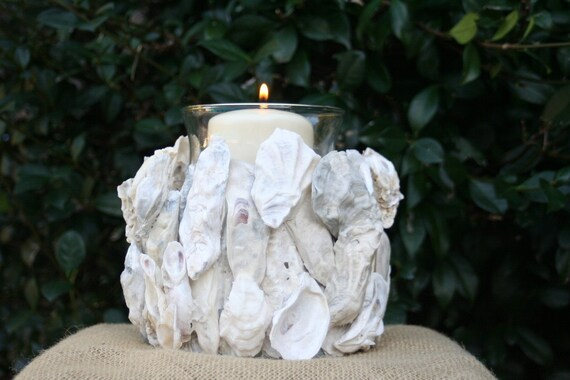 OYSTER SHELL CANDLE holder - medium