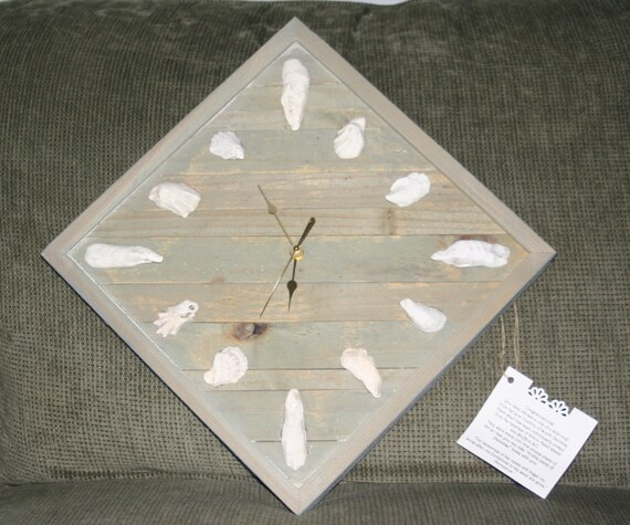 OYSTER SHELL  CLOCK