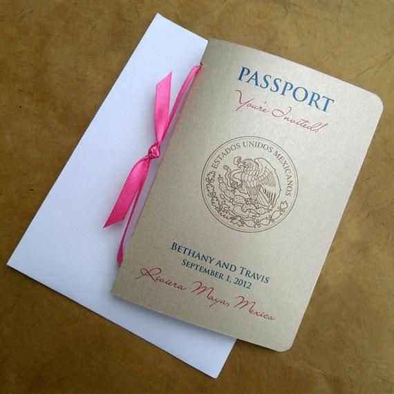 Items Similar To Passport Wedding Invitation On Etsy