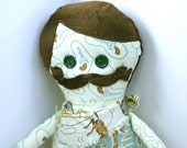Handmade Fabric  Boy Doll- Ned Cowboy cloth doll