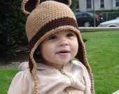 PDF Instant Download Easy Crochet Pattern No 045 Bear Hat ALL sizes Infant Baby Toddler Child Adult