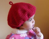 PDF Instant Download Crochet Pattern No 084 French Style Beret Hat All sizes Baby Toddler Child Teen Adult