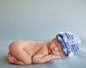 PDF Newsboy Hat Chunky Yarn CROCHET  PATTERN No 221 photo prop sizes preemie, newborn. 0-3, 3-6 months