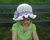 PDF Instant Download Crochet Pattern No112 Sun Hat All sizes Baby Toddler Child Adult