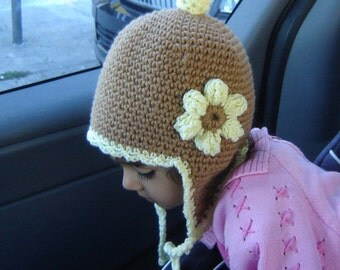 PDF Instant Download Crochet Pattern No027 Earflap Hat all sizes baby toddler child adult