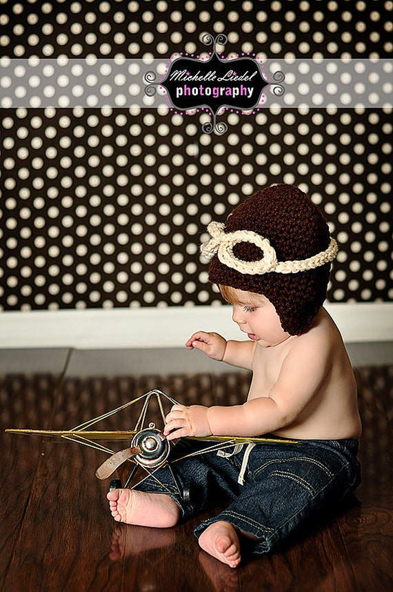 PDF Instant Download Crochet PATTERN No 253 Aviator Earflap  sizes preemie, newborn, 0-3 months, 3-6 months, toddler, kid  and adult