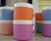 10 vintage bolero thermo-ware coffee cups