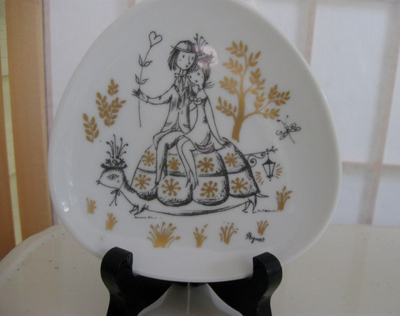 Mid century Rosenthal collectable plate with stand