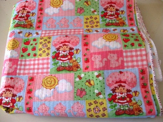 Strawberry shortcake cotton fabric