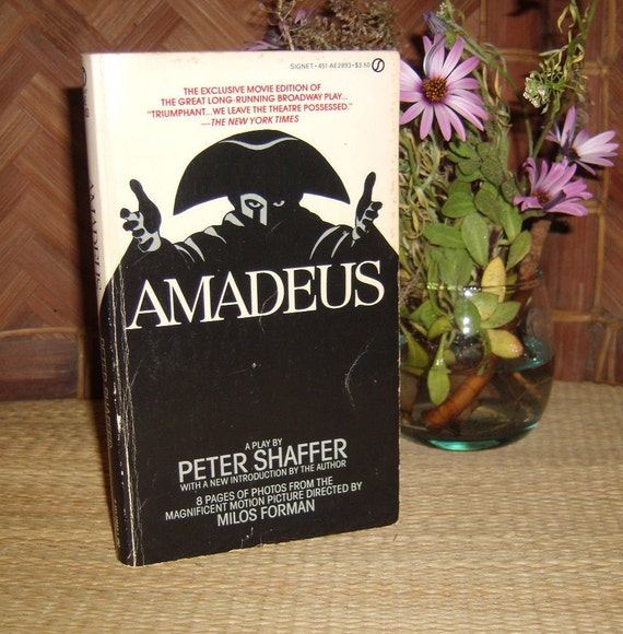 Vintage Amadeus Peter Shaffer first Printing Paperback Book