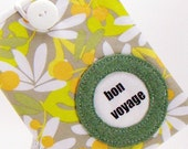 Bon Voyage Passport Cover / Travel Accessory / Pocket Passport Case / Tropical