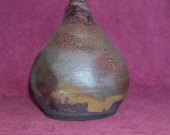 Raku Old World Bottle