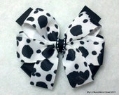 "4"" Cow Print Layered Bow"