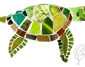 Sea Turtle Collage Print
