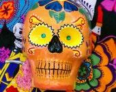 Dia de los muertos Yellow Sugar Skull