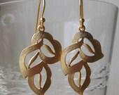 Gold Leaf Earrings, Gold Earring, Gift, Everyday Earring, Simple Earring, Nature Earring