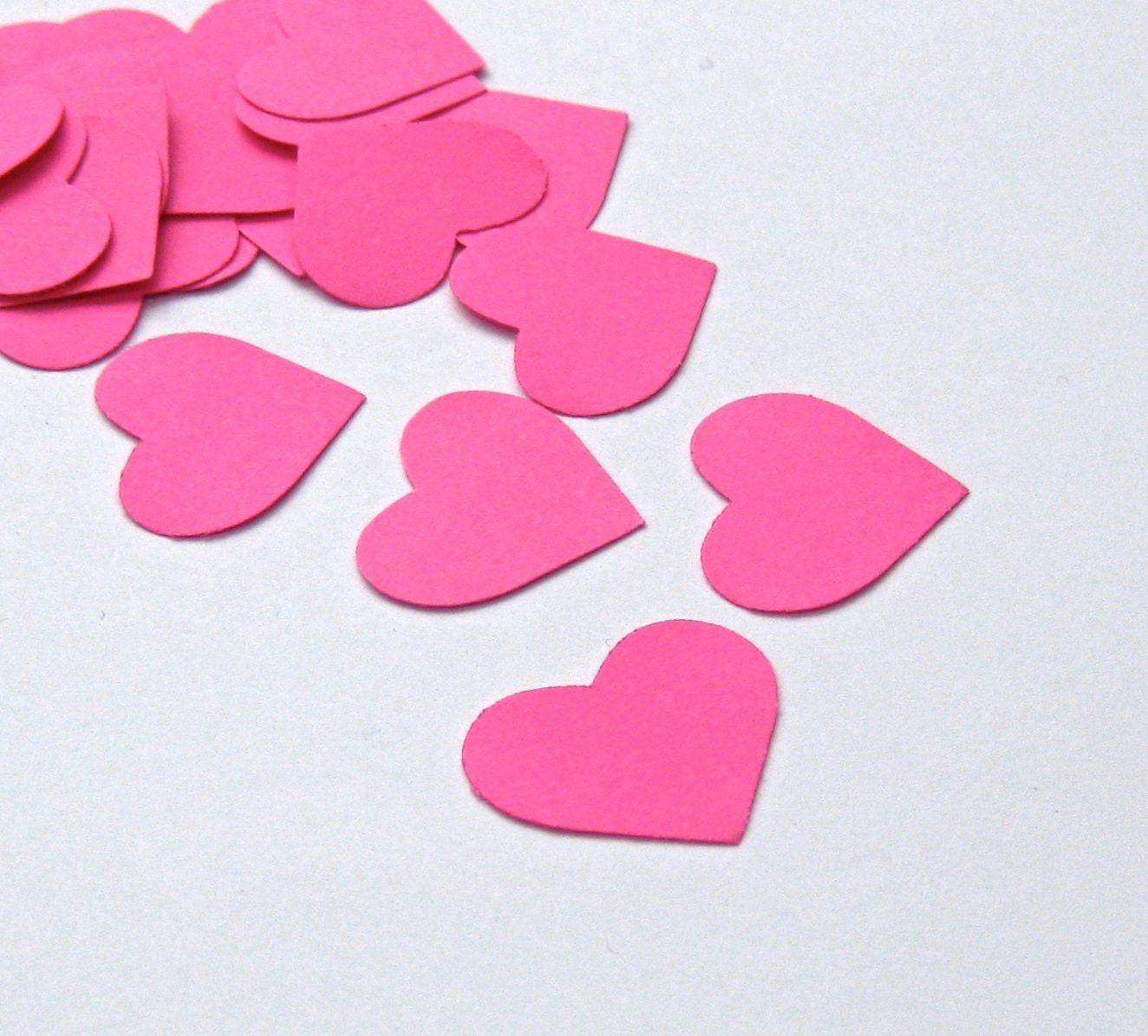 Neon Pink Love Hearts One Inch Card Stock by KnockOutPunches