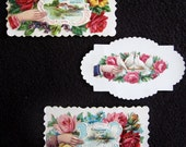 3 Antique Victorian Calling Cards - set 6