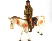 Tonto and Scout Action Figures 1970s - Lone Ranger - Gabriel Toys