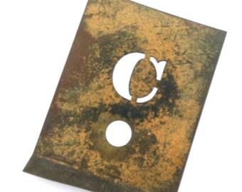 vintage brass stencil metal alphabet stencil letter