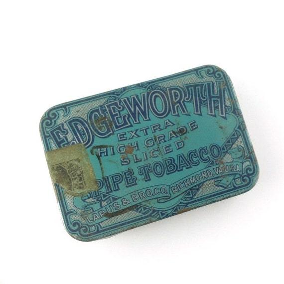 edgeworth tin - vintage collectible pipe tobacco tin