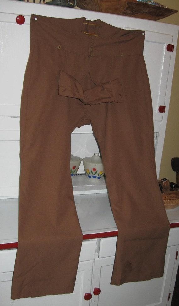 men u0026 39 s broadfall drop front pants colonial pioneer
