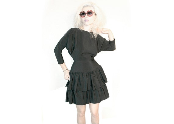 Teen Witch // Black Triangle Cut-Out Party Dress