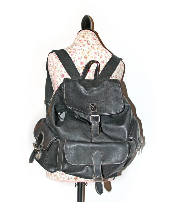 GAP // 90's Grunge Large Faux Leather Backpack