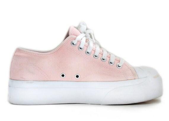 Grunge Peachy Pastel Platform Lace Up Sneakers // 8.5