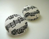 Music - Button Earrings for Temi