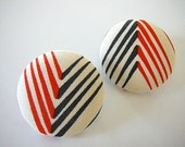Geo - Button Earrings