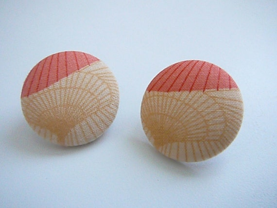 Medium Button Earrings