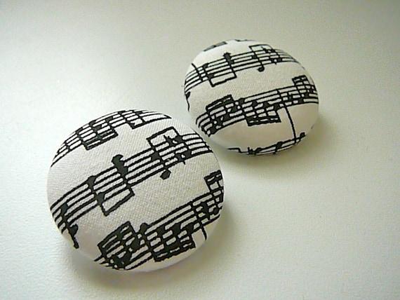 Music - Button Earrings for Temi