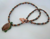 Wood Turtle Necklace