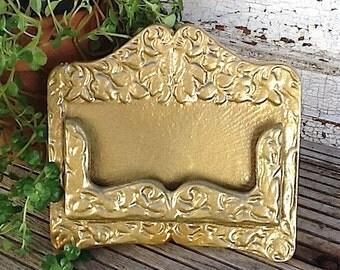 Business Card Holder- In Hollywood Gold- Golden Era-Metallic Gold-Office Decor-Cast Iron-Modern Decor-Business Cards-New Job