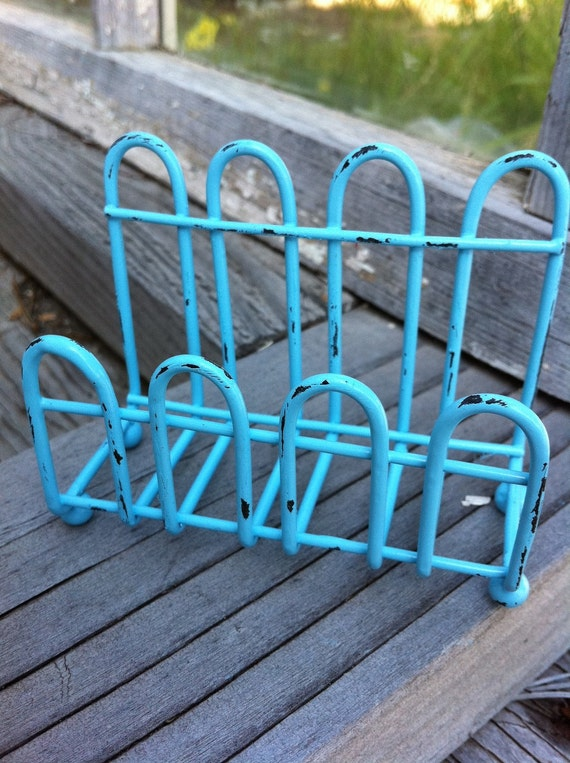 Aqua Business Card Holder from Alacartcreations on Etsy