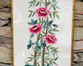Vintage Needlepoint Botanical