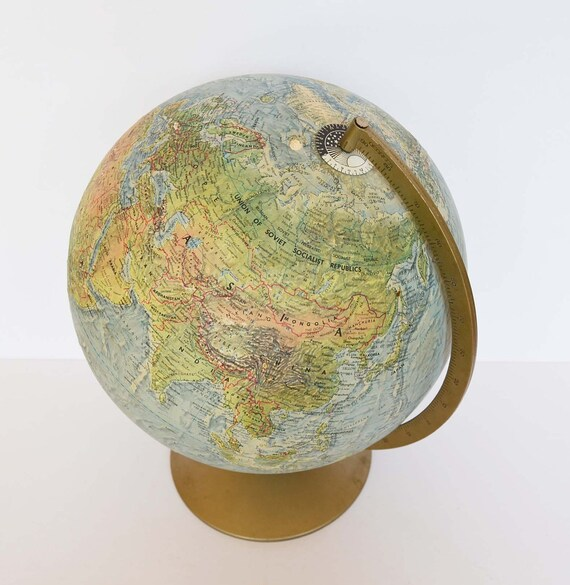 Vintage 1960s World Globe Replogle