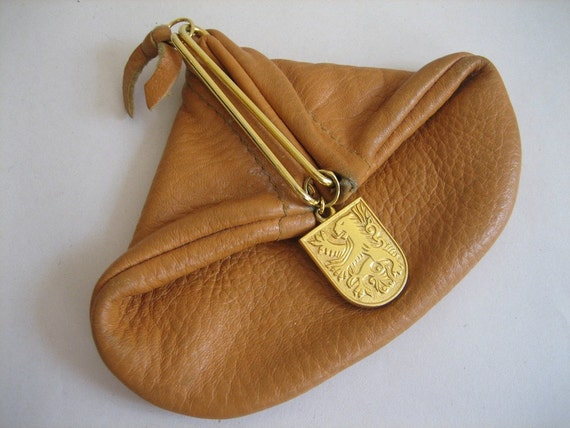 Vintage Native Deer Skin Change Purse with Italian Snap Closure