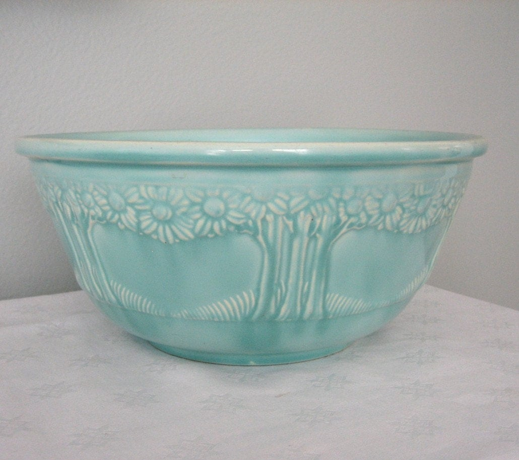 Homer Laughlin Pottery Mixing Bowl Orange Tree By