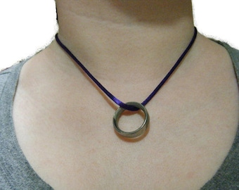 Satin Cord Necklace with Sterling Silver Extender- 16.5inch/42cm Long- 3inch/7.5cm Extender- Adjustable Necklace- Handmade Satin Necklace