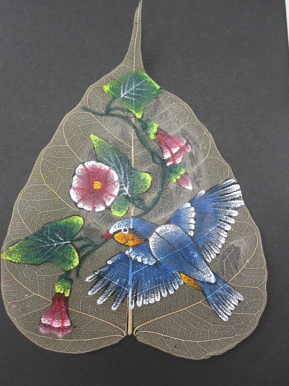 Items similar to real leaf handpainting framed unique for Painting with nature items