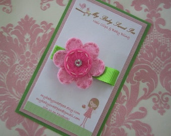 Girl hair clip- girl hair barrette - baby girl hair clips
