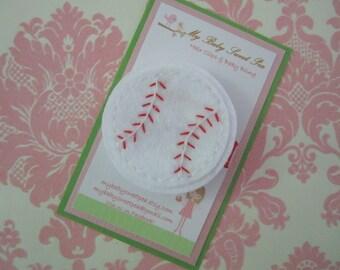 girl hair clip - girl baseball hair clip - no slip hair clip