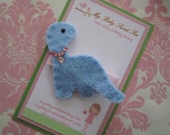 Girl hair clips- dinosaur hair clip - girl barrettes