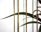 Vintage metal birdcage, rusty, rustic, organic, old, home decor, functional, antique, plant holder, perfect gift, hanging, decorative