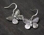Butterfly Earrings - SIlver SALE