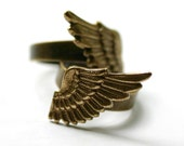 Angel Wing Ring Set GOLD Double 2 Finger